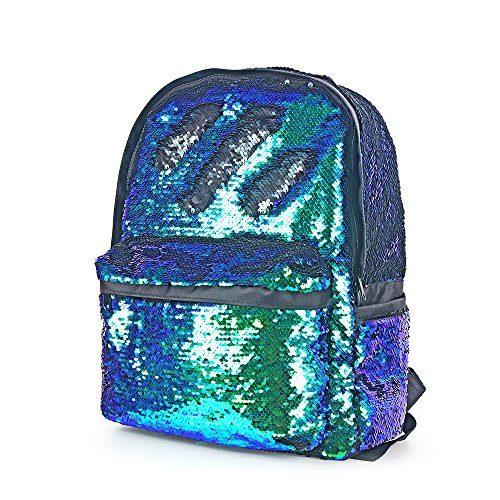 Magic Reversible Sequin School Backpack,Sparkly Lightweight Back Pack for Girls and Boys,13