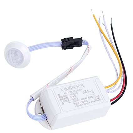 Merssavo - Sensor infrarrojo automático de movimiento - Con testigo luminoso automático ON/OFF e