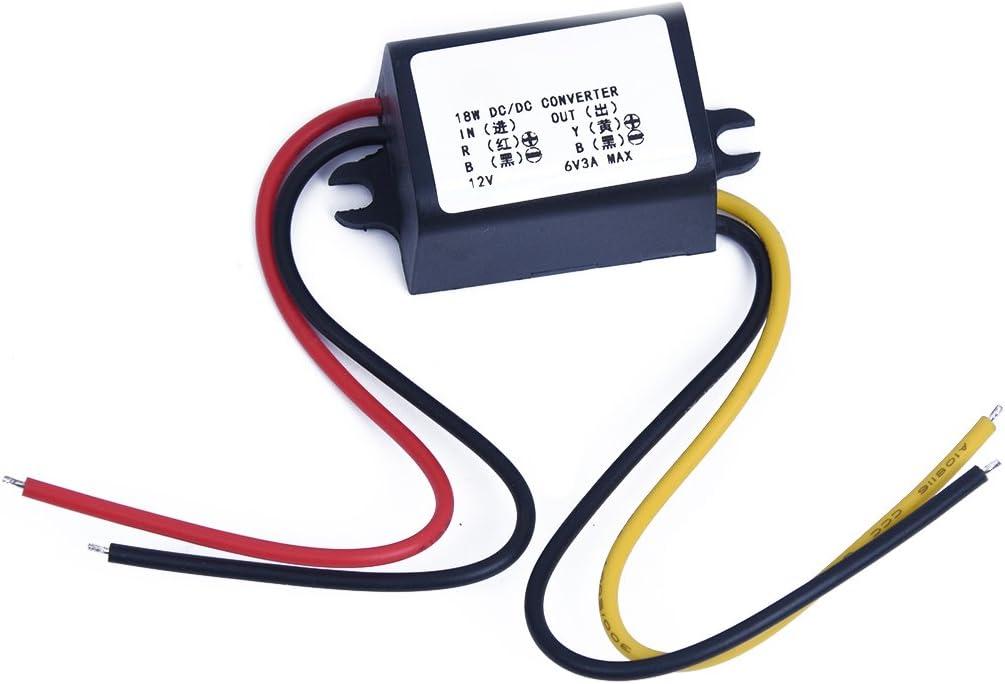 Auto Charger Adapter Konverter 12V auf 6V 3A 15W DC-DC Step-Down Module
