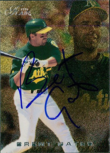 Powers Collectibles Signed Gates, Brent (Oakland Athletic...