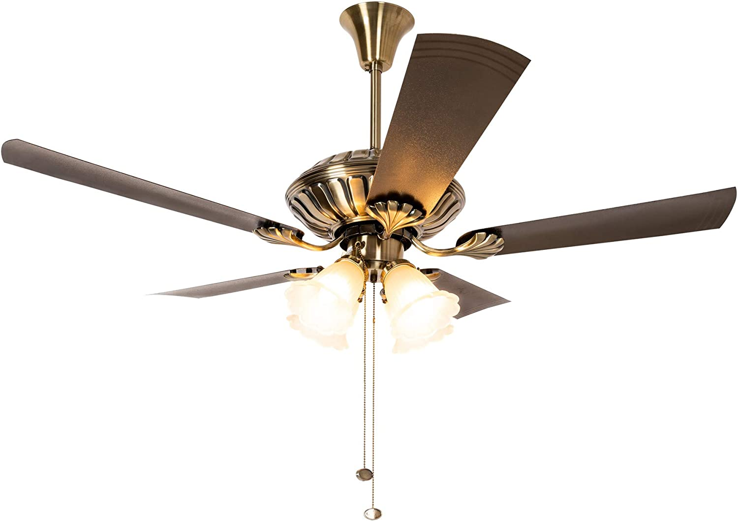 Buy Crompton Jupiter Ceiling Fan With Decorative Lights 1200 Mm Brass Online At Low Prices In India Amazon In