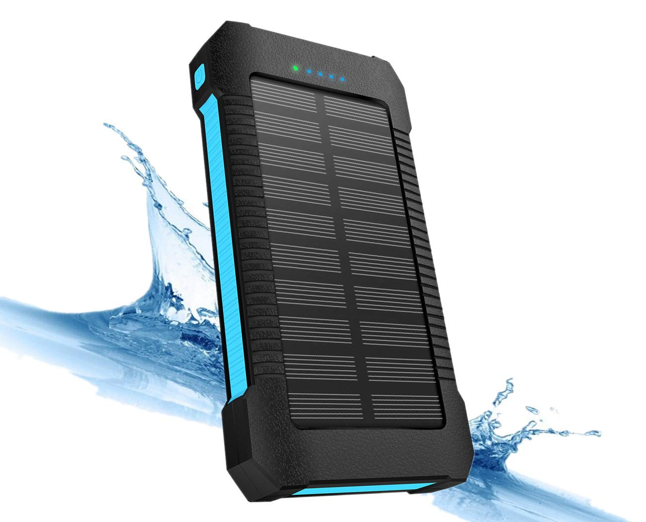 Solar Power Bank Charger 22000 mAh, Solar Powered Phone Charger Portable, Solar Panel Battery Charger with Type-C, Dual USB, LED Flashlight, IPx7 Waterproof, Dustproof and Shockproof, for Mobile Phone, iPhone, iPad, Samsung Galaxy, Cellphon