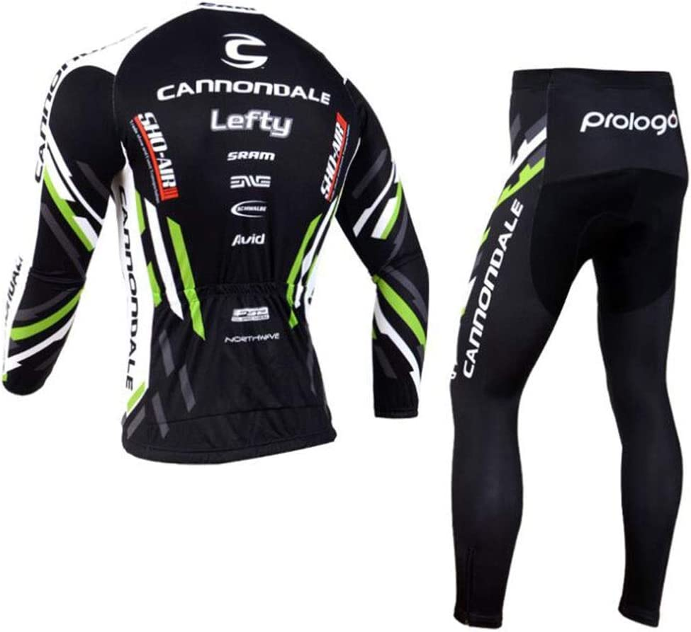 QJKai Mens Jersey Cycling Shirts Bib Pants Kits Set Road Bike Outdoor Riding Sportswear Jacket with Pockets Color : A, Size : XS