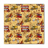 Search : Cars Bandana by Ambesonne, Steampunk Inspired Vintage Means of Transportation Colorful Retro Design, Printed Unisex Bandana Head and Neck Tie Scarf Headband, 22 X 22 Inches, Mustard Red Olive Green