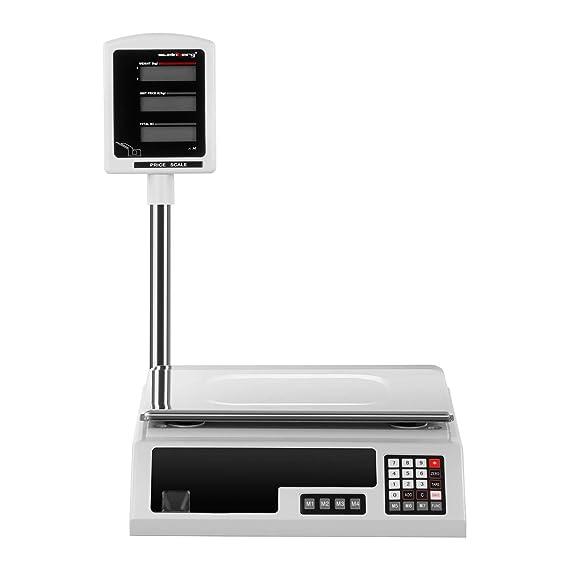 Steinberg Bascula Comercial Balanza Digital de Comercio SBS-PW-301CE (30 kg / 1 g, 2 Pantallas LCD, Plato De 34 x 23 cm): Amazon.es: Hogar