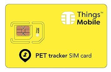 Tarjeta SIM para rastreador de mascotas / pet tracker - GSM / 2G / 3G / 4G - ideal para rastreador de mascotas / pet tracker con un crédito incluido ...