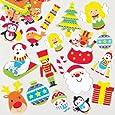 Adesivi Natalizi in Gommapiuma per Bambini per Decorare Bigliettini Fai da Te di Natale (confezione da 100)