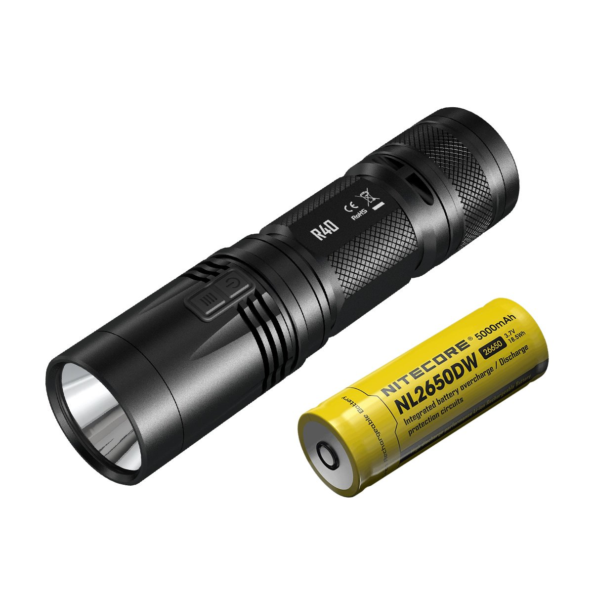 Manbuy NITECORE 1000 lumens XP-L HI LED Rechargeable White light With Battery Gear Outdoor Camping Search R40 Flash Light Hand lamp by Nitecore (Image #3)