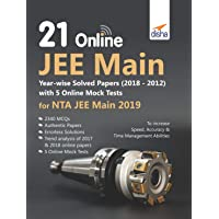 21 Online JEE Main Year-wise Solved Papers  with 5 Online Mock Tests for NTA JEE Main