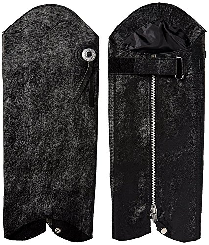 First Manufacturing Unisex Half Chaps (Black, Medium/Large) by First Mfg Co (Image #2)