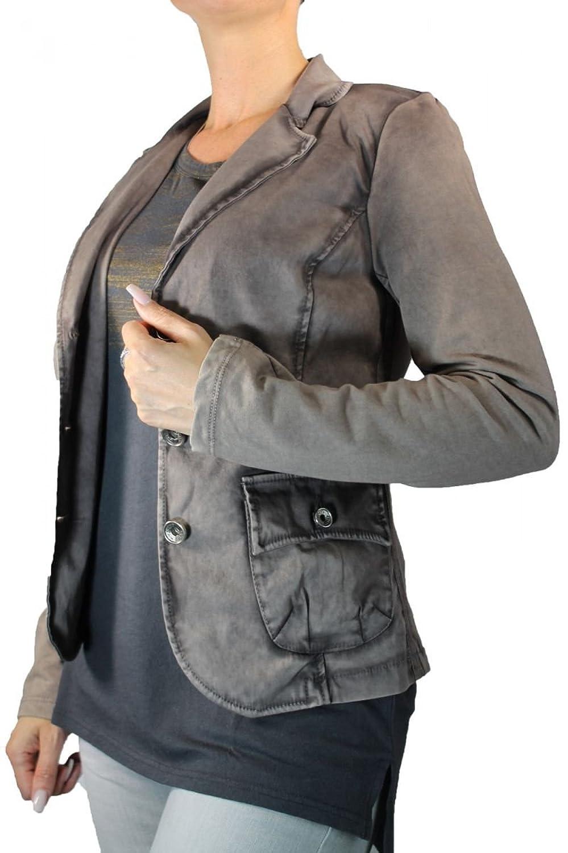 Funky Staff Damen Blazer Jacke Vintage braun