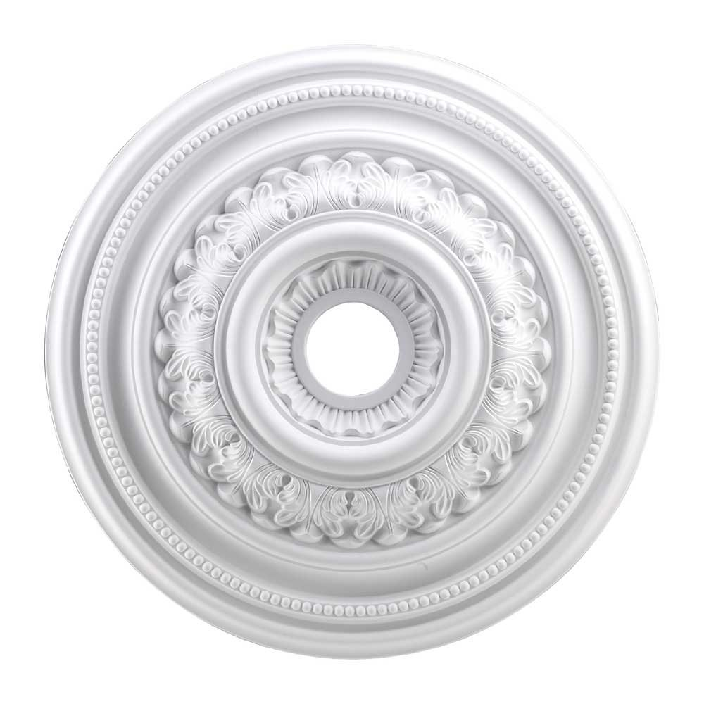 Elk M1012WH English Study Ceiling Medallion, 24-Inch,  White Finish