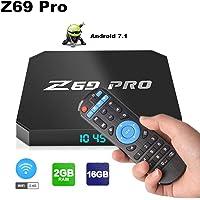 Z69 Pro Android 7.1 Mini PC, 2GB/16GB Android TV Box Supports JIO TV & HotStar Apps, Amlogic S905W UHD 4K 1080P Smart TV Box Set Top Box TX3 Mini X96 Mini MXQ Pro