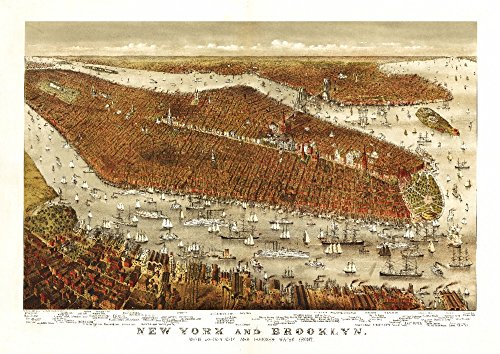 - New York City, New York - Panoramic Map (24x36 SIGNED Print Master Giclee Print w/Certificate of Authenticity - Wall Decor Travel Poster)