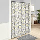 Grey and Yellow Shower Curtain Marble Hill Rayna Shower Curtain, 72