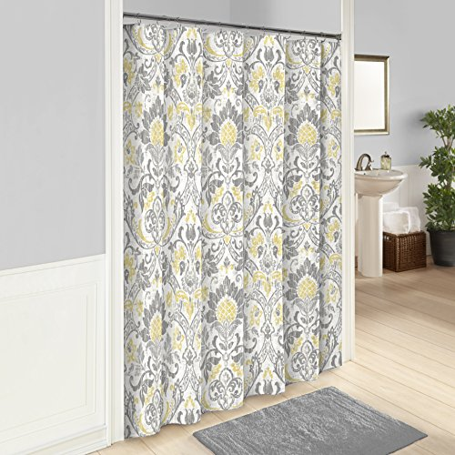 Curtain Hill Cotton (Marble Hill Rayna Shower Curtain, 72x72, Grey)