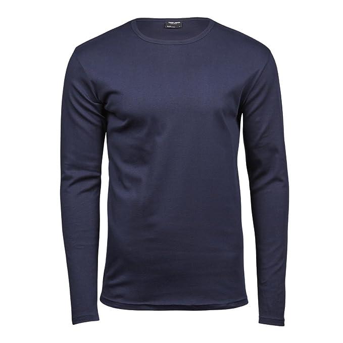 34fa5291b Tee Jays - Camiseta básica de Manga Larga con Cuello Redondo para Hombre -  100% Algodón Ringspun Combed Interlock  Amazon.es  Ropa y accesorios