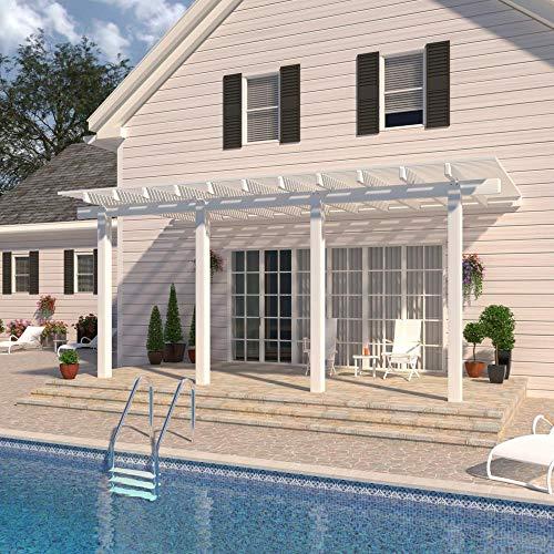 Classic 18 ft. x 10 ft. Aluminum Attached Open Lattice Patio Cover (Lattice Open Patio Cover)