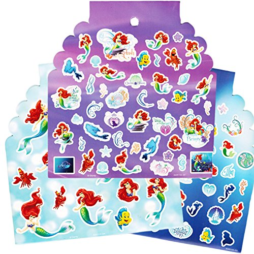 Disney Little Mermaid Stickers ~ Over 300 Stickers Featuring Ariel and More!