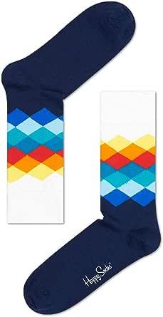 Happy Socks Faded Diamonds Calcetines, 100 DEN para Hombre