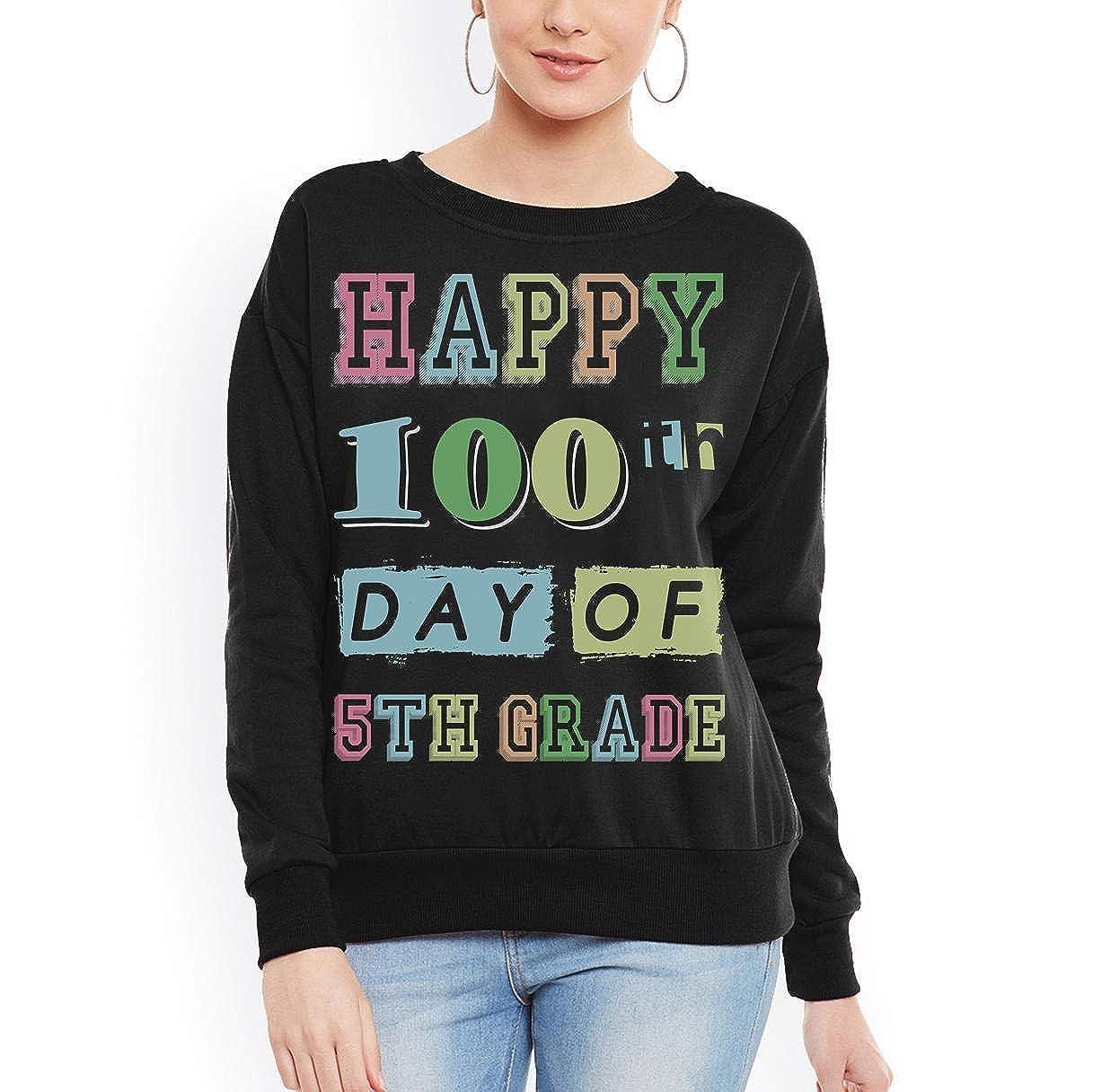 Happy 100th Day of School 5th Grade Teacher Student Unisex Sweatshirt tee