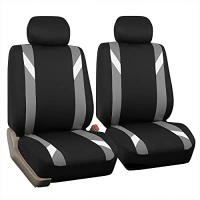 FH Group FB033GRAY102 Bucket Seat Cover (Modernistic Airbag Compatible (Set of 2) Gray): Automotive