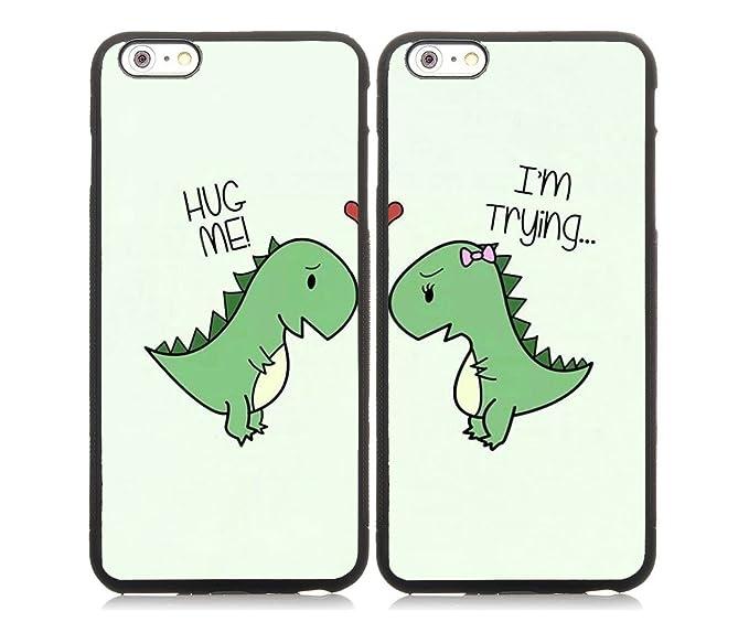 detailed look 411a6 bc485 Amazon.com: Cartoon Cute Little Dinosaur Couple Lovers Best Friends ...