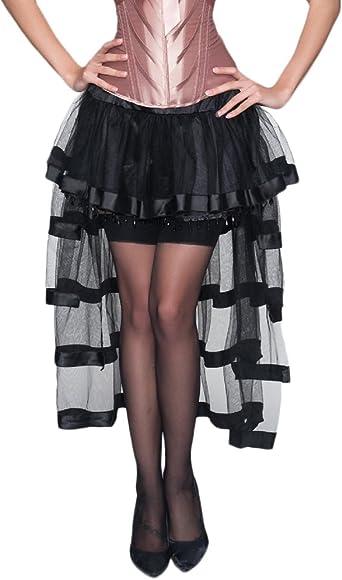 Mieuid Mujer Falda Tul Años 50 Vintage Gothic Steampunk Irregular ...