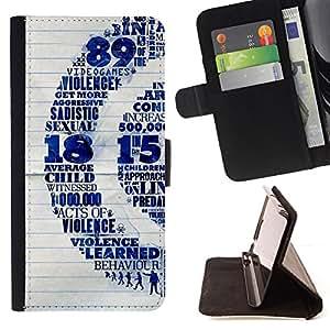 BullDog Case - FOR/Samsung Galaxy S3 Mini I8190Samsung Galaxy S3 Mini I8190 / - / violence children quote sex vide games art /- Monedero de cuero de la PU Llevar cubierta de la caja con el ID Credit Card Slots Flip funda de cuer