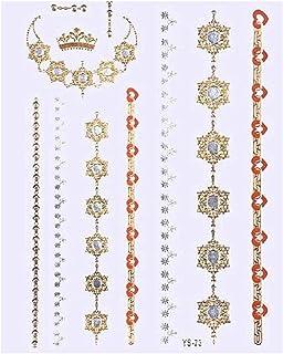 TATTOOS Bijoux DE Peau Éphémères. Royal - Couleurs Or et Argent et Noir .Notice 6ac0878855f1
