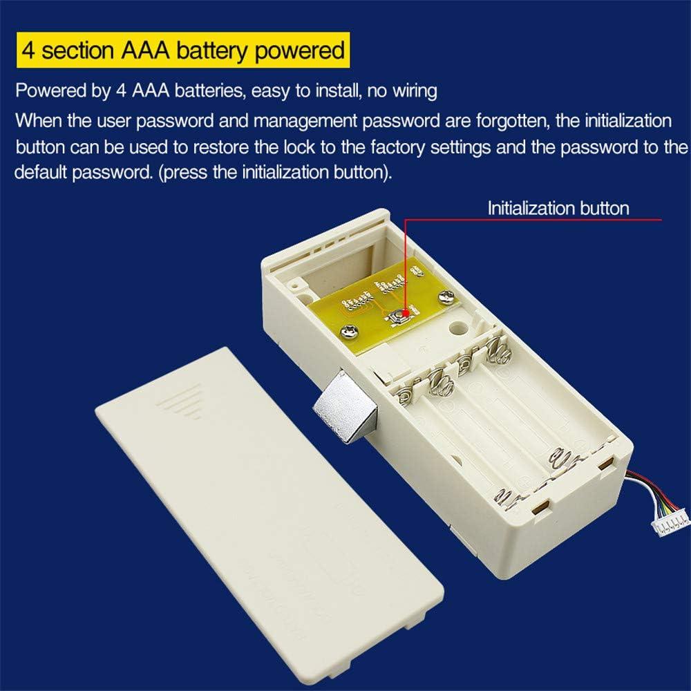 caj/ón armario para uso en el hogar o la oficina teclado con contrase/ña DIYARTS Cerradura electr/ónica para gabinete teclado inteligente