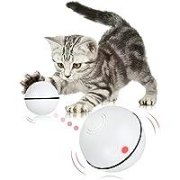 Juguetes Eléctrico para Gatos,Bola de gato interactiva inteligente Recargable USB,360 Grados Bola Autogiratoria Juguete…