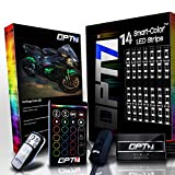 14pc Aura Motorcycle LED Light Kit | Multi-Color Accent Glow Neon Strips w/Switch for Sport-Street