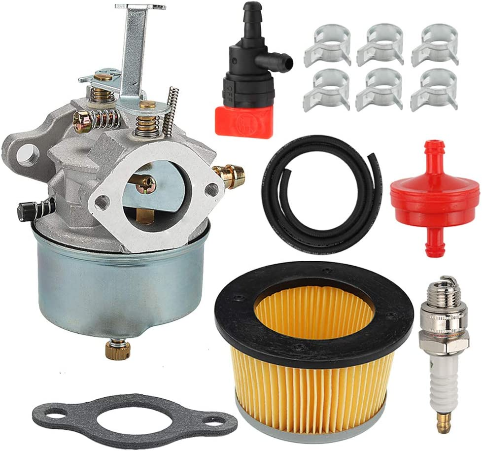 632272 632230 Carburetor 30727 Air Filter Fit Troy Bilt Chipper Vac 47279 47261 65582V Deere 624D Tiller Tecumseh H30 H50 H60 HH60 HH70 Snowblower