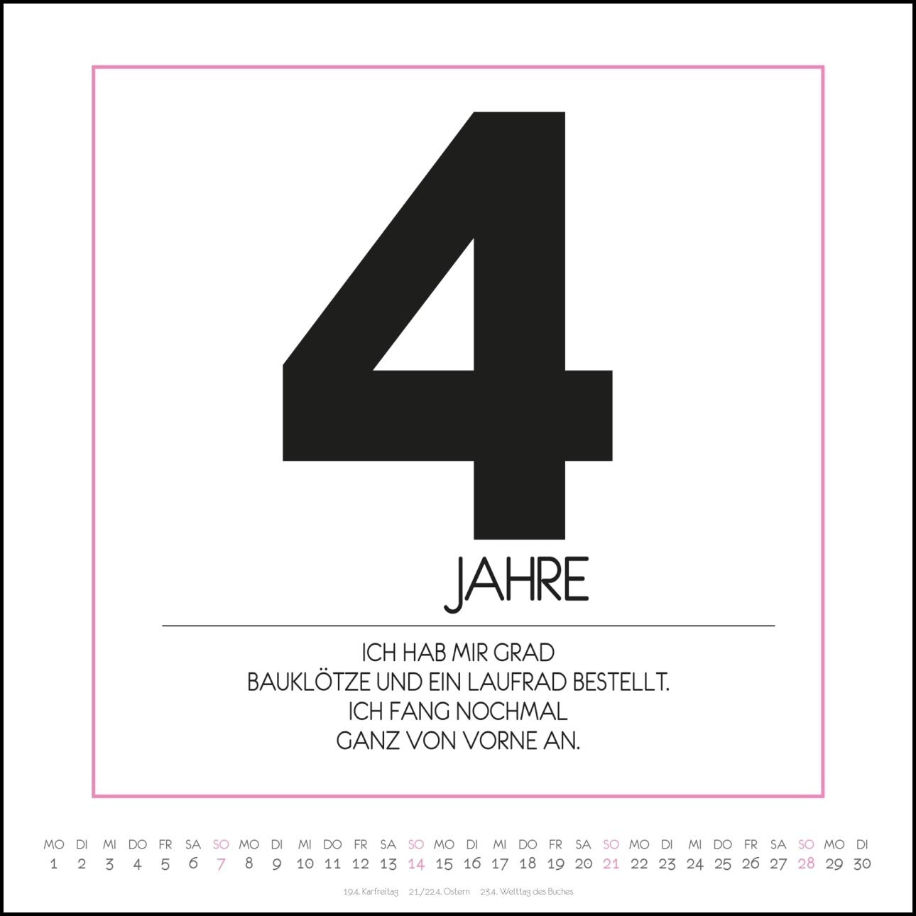 Buro Kalender 2019 Buro Spruche Von Funi Smart Art Quadrat Format