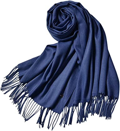 Designer Inspired Pashmina Scarf Black Gold Wool Blend Oversized Long Soft NEW