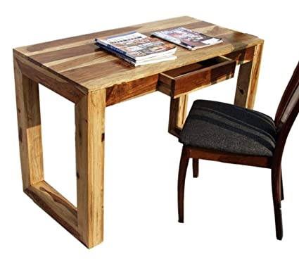 Thd The Home Dekor Oliva Solid Wood Study Table With One