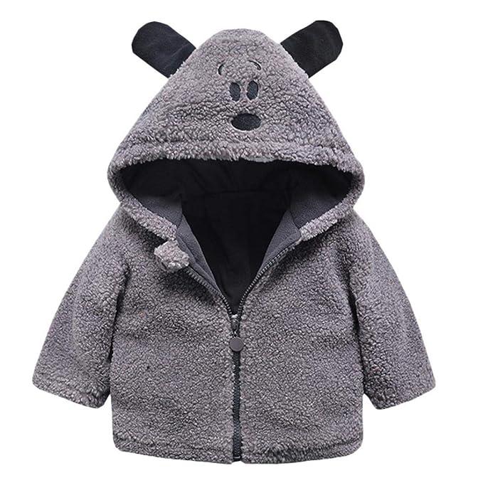 044255bd5 Amazon.com  SUNBIBE👻Infant Babys Girls Boys Warm Clothes Hooded ...