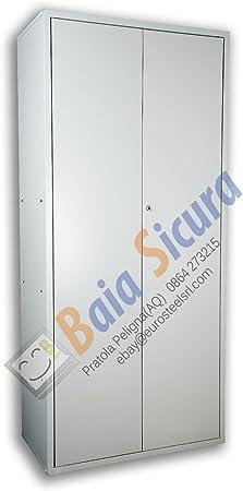 Armadio Ufficio Archivio 200 x 100 x 40 Multiuso Porta Bianca
