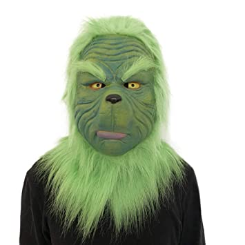 The Grinch Mask Helmet Costume Cosplay How the Grinch Stole Christmas Adult Prop