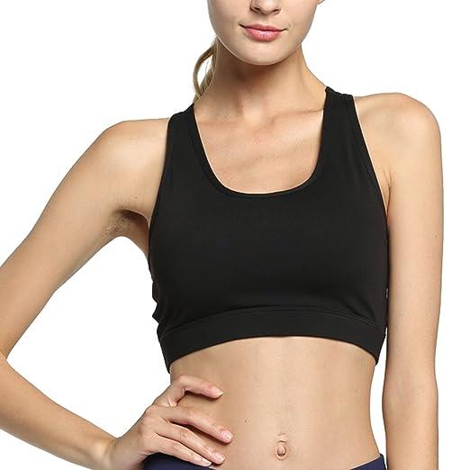 d3cd44f228ff4 Shitagi Women s High Impact Sport Bra with Back Pocket Front Zipper Workout  Bra (Black