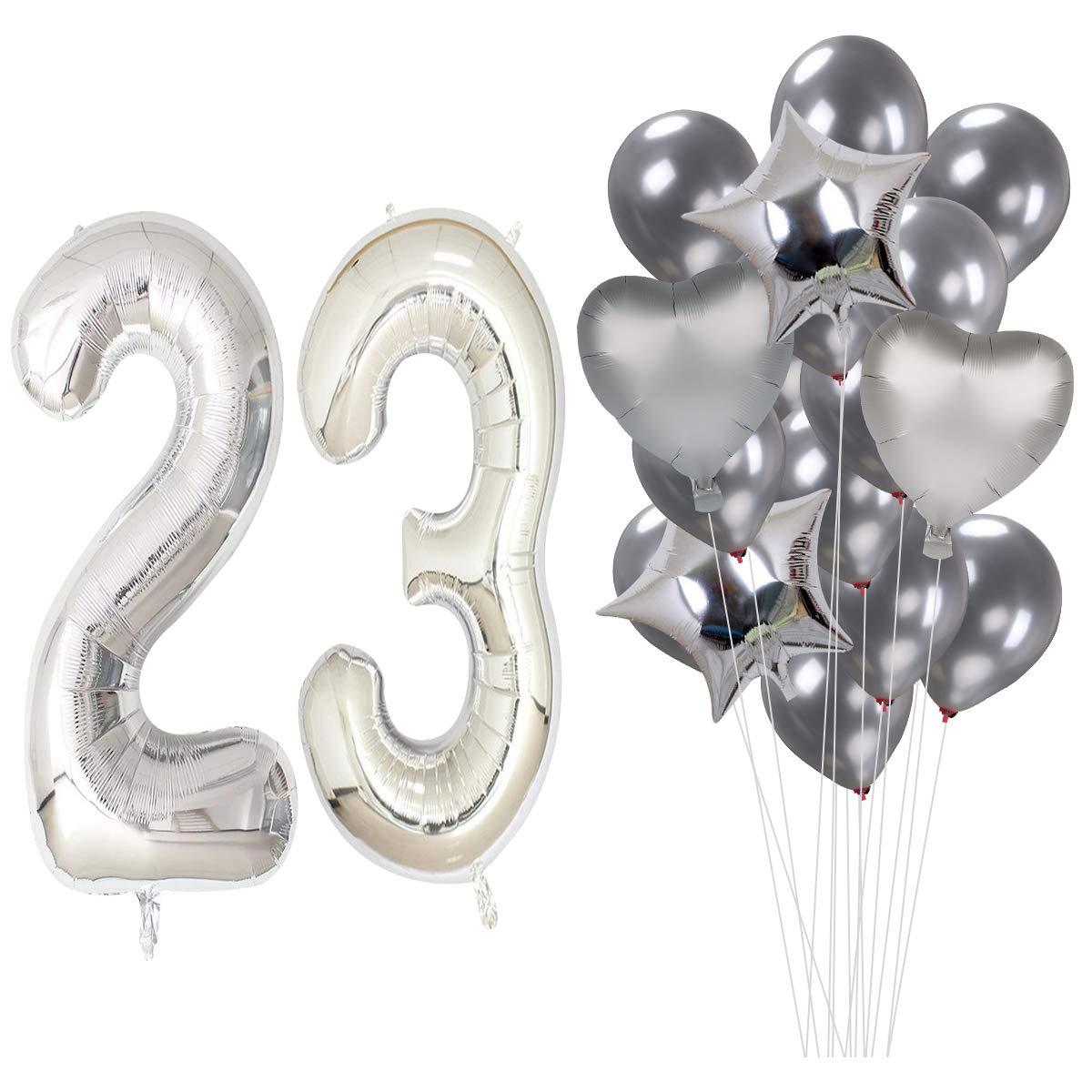 MAGJUCHE 40 Pulgadas Plata 23 cumpleaños Helio Jumbo Digital ...