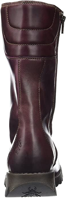 #Fly London Ster768Fly Purple Leather Womens Mid Calf Boots-36