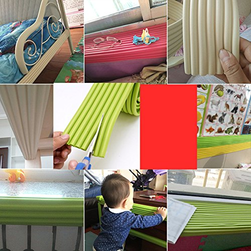 White 6.5 FT Extra Wide and Thick Safe Edge and Corner Cushion Guard Baby and Child Proof Table and Furniture Safety Protection