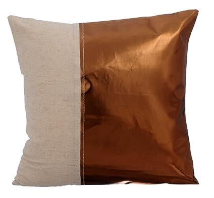 Amazon Copper Decorative Pillows Cover 40x40 Inch Pillow Case Unique Faux Leather Pillows Decorative Pillows