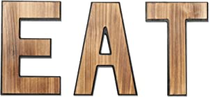 Wooden Eat Sign for Kitchen, Rustic Eat Signs Kitchen 3D Effect Wall Decor, Farmhouse Kitchen Wall Art, EAT Letters Farmhouse Kitchen Decor for Kitchen, Dining Room & Eatery, Easy to Hang (Rustic EAT)