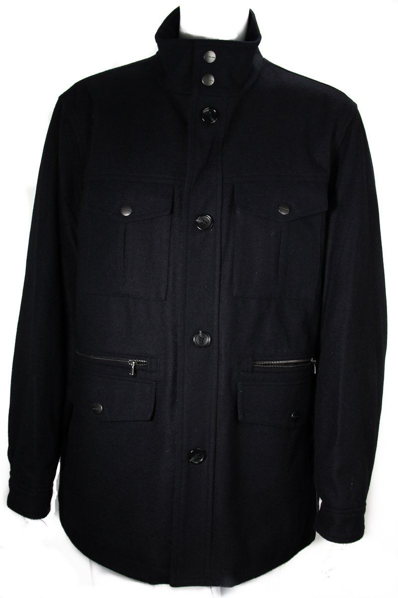Michael Kors Men's Field Coat Office Navy Blue Size XX-Large