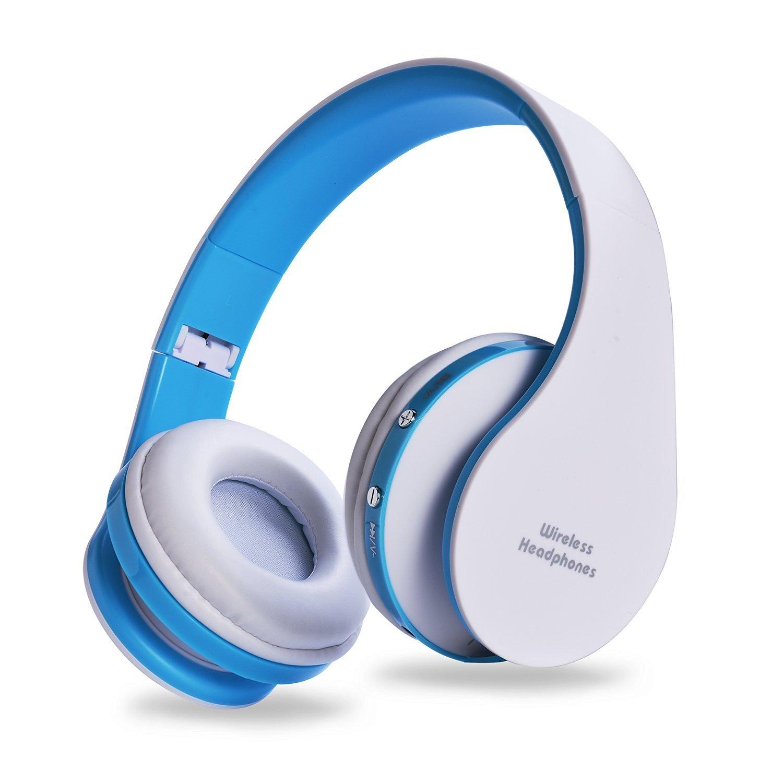 Auriculares AIYIBEN Bluetooth Inalambrico Over-Ear Stereo Inalambrico/Con Cable Headsets con Microfono para Music Stream