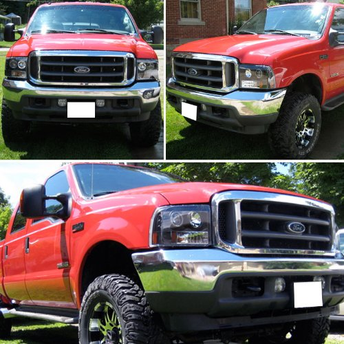 99 F350 Headlights >> Amazon Com Rxmotoring 2002 Ford F350 Headlight Projector