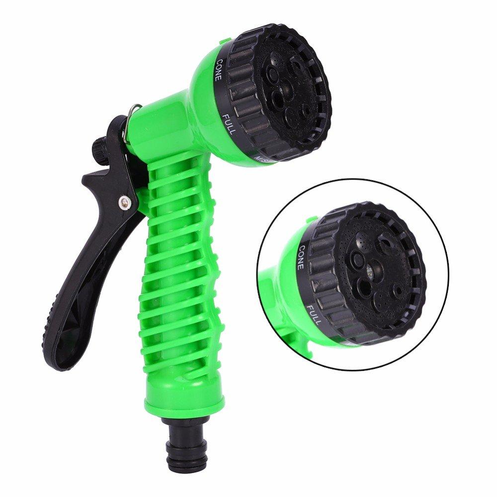 Green Plastic Copper Pressure Multi Function Water Gun Garden Watering Hose Water Nozzle Household Garden Car Wash